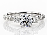 White Lab-Grown Diamond 14K White Gold Engagement Ring 1.37ctw