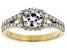 White Lab-Grown Diamond 14K Yellow Gold Ring 1.50ctw