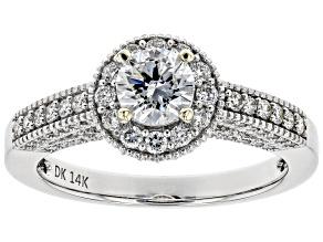 White Lab-Grown Diamond 14K White Gold Ring 1.22ctw