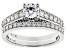 White Lab-Grown Diamond 14K White Gold Ring With Matching Band 1.25ctw