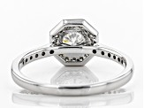 White Lab-Grown Diamond 14K White Gold Ring 1.04ctw