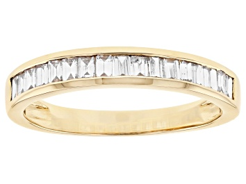 Picture of White Lab-Grown Diamond 14k Yellow Gold Band Ring 0.70ctw