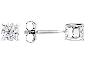 White Lab-Grown Diamond 14k White Gold Stud Earrings 0.50ctw