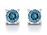 Blue Lab-Grown Diamond 14k White Gold Stud Earrings 0.50ctw