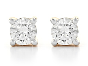 White Lab-Grown Diamond 14k Yellow Gold Stud Earrings 0.25ctw