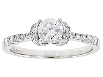 Picture of White Lab-Grown Diamond 14k White Gold Engagement Ring 0.75ctw