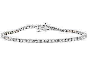 White Lab-Grown Diamond 14K White Gold Tennis Bracelet 3.50ctw