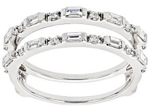 White Lab-Grown Diamond 14k White Gold Ring Guard 0.55ctw