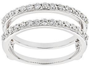 White Lab-Grown Diamond 14k White Gold Ring Guard 0.65ctw