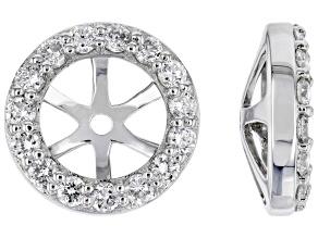 White Lab-Grown Diamond 14k White Gold Earring Jackets 0.40ctw