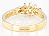 White Lab-Grown Diamond 14k Yellow Gold 3-Stone Band Ring 0.50ctw