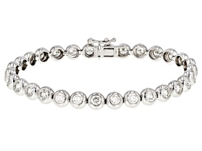 White Lab-Grown Diamond 14K White Gold Bracelet 5.62ctw