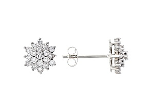 White Lab-Grown Diamond 14K White Gold Earrings .50ctw