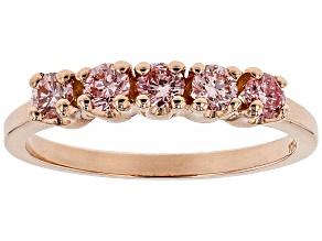 Pink Lab-Grown Diamond 14K Rose Gold Ring 1.16ctw