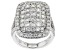 White Lab-Grown Diamond 14K White Gold Ring 3.16ctw