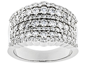 White Lab-Grown Diamond 14K White Gold Band Ring 2.00ctw