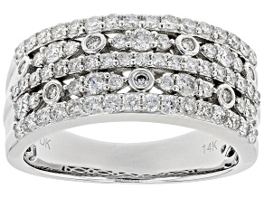 White Lab-Grown Diamond 14K White Gold Ring 1.02ctw