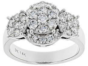 White Lab-Grown Diamond 14K White Gold Ring 1.20ctw