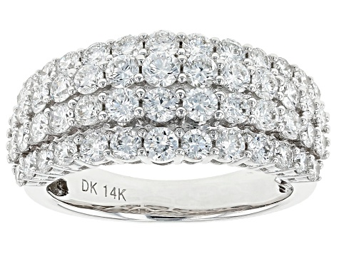 White Lab-Grown Diamond 14K White Gold Ring 2.22ctw