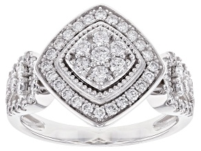 White Lab-Grown Diamond 14K White Gold Ring .80ctw