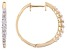 White Lab-Grown Diamond 14K Yellow Gold Hoop Earrings .61ctw