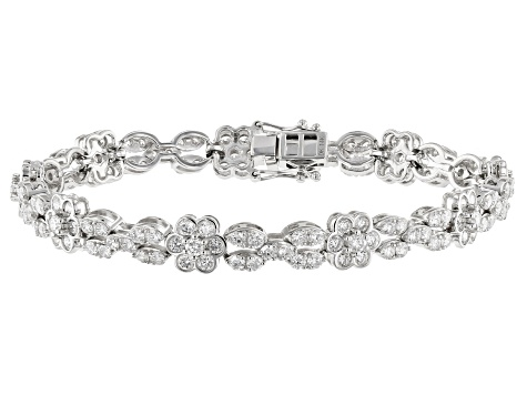 White Lab-Grown Diamond 14K White Gold Bracelet 6.35ctw