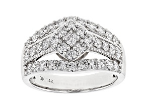 White Lab-Grown Diamond 14K White Gold Ring 1.31ctw