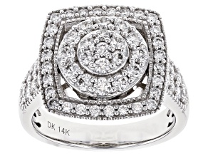 White Lab-Grown Diamond 14K White Gold Ring 1.40ctw