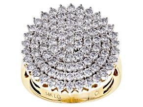 White Lab-Grown Diamond 14K Yellow Gold Ring 2.00ctw