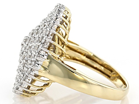 White Lab-Grown Diamond 14K Yellow Gold Ring 2.00ctw