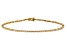 White Lab-Grown Diamond 14K Yellow Gold Bracelet 1.02ctw