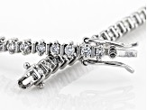 White Lab-Grown Diamond 14K White Gold Bracelet 1.02ctw