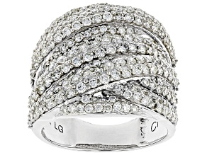 White Lab-Grown Diamond 14K White Gold Ring 2.35ctw