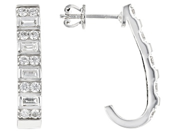 Picture of White Lab-Grown Diamond 14K White Gold Earrings 0.83ctw