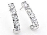 White Lab-Grown Diamond 14K White Gold Earrings 0.83ctw