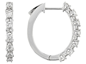 White Lab-Grown Diamond 14K White Gold Earrings 1.26ctw