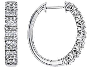 White Lab-Grown Diamond 14K White Gold Earrings 1.28ctw