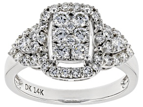White Lab-Grown Diamond 14K White Gold Ring 1.07ctw