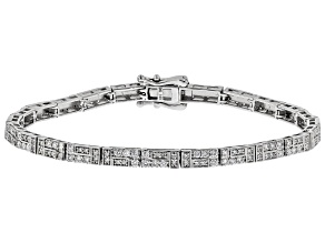 White Lab-Grown Diamond 14K White Gold Bracelet 2.01ctw