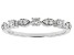 White Lab-Grown Diamond 14K White Gold Band Ring 0.30ctw