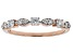 White Lab-Grown Diamond 14K Rose Gold Band Ring 0.30ctw