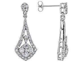 White Lab-Grown Diamond 14K White Gold Earrings 1.70ctw