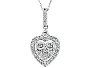 White Lab-Grown Diamond 14K White Gold Pendant 18