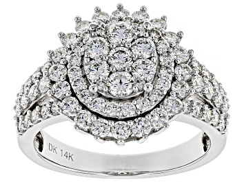 Picture of White Lab-Grown Diamond 14K White Gold Ring 1.58ctw