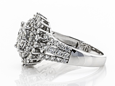 White Lab-Grown Diamond 14K White Gold Ring 1.58ctw
