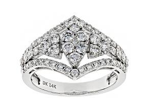 White Lab-Grown Diamond 14K White Gold Ring 1.25ctw