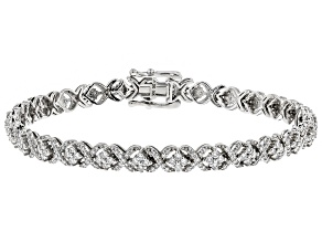 White Lab-Grown Diamond 14K White Gold Bracelet 2.83ctw