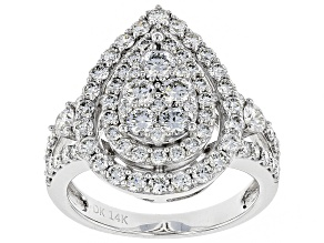 White Lab-Grown Diamond 14K White Gold Ring 1.94ctw