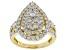 White Lab-Grown Diamond 14K Yellow Gold Ring 1.94ctw