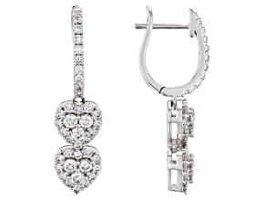 White Lab-Grown Diamond 14K White Gold Earrings 1.10ctw